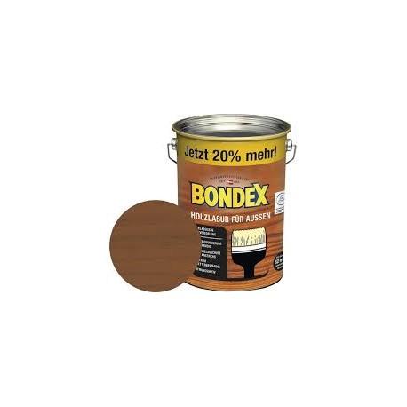 BONDEX Holzlasur für außen 4,8L teak