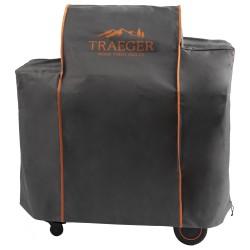 Traeger Abdeckhaube für Timberline 850, lang, grau mit Logo
