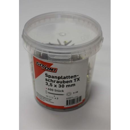 GO/ON TX Schrauben IP 3,5x30 mm 600 Stück/Eimer