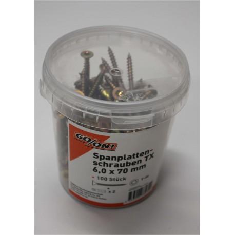 GO/ON TX Schrauben IP 6x70 mm 100 Stück/Eimer
